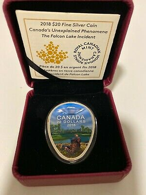 2018 $20 Fine Silver Coin-Falcon Lake Incident Canadian Mint Estate sale