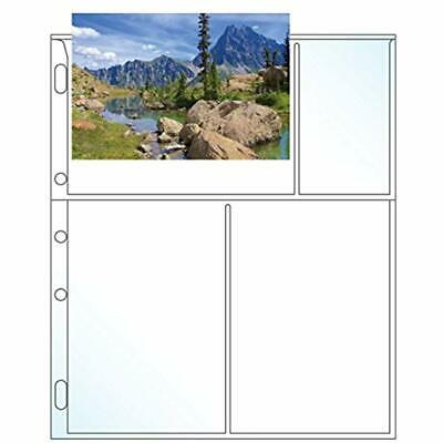 Clear Archival 5 Hole Punched Photo Sheet Protector - Holds 6 4 X Inch Photos 2