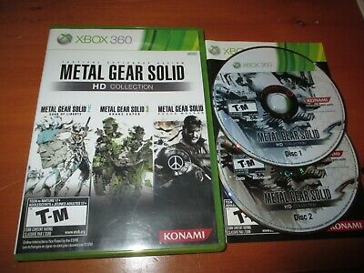 Metal Gear Solid HD Collection (Xbox 360, 2011) EX+ Shape, COMPLETE!