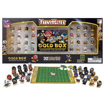 NFL TeenyMates Gold Box Superstar Collector Set -32 Figures for 2019