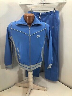 Vintage Nike Women's Sweat Suit - Blue/Gray - Small