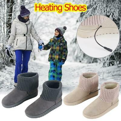 Heated Stylish Snow Booties USB Non-slip Heating Shoes Warm Foot Home Slipper