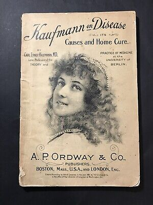 Antique Advertising Book KAUFMANN ON DISEASE, Ordway & Co 1881 Sulphur Bitters