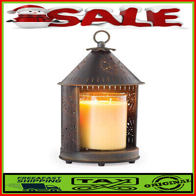 Tin Punched Candle Warmer Lantern For Top-Down Candle Melting,Sunshine Primitive