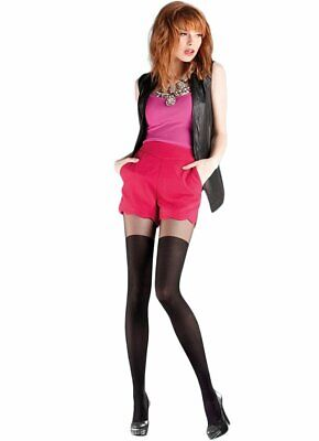 MOCK OVER THE KNEE TIGHTS by Gabriella Scarlet size 2 3 4 MOCK SUSPENDER Tights