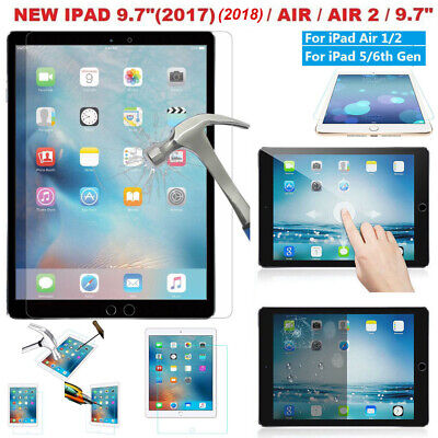 New Screen protector Tempered Glass Film for iPad 5th 6th 2017/2018 9.7 iPad Air