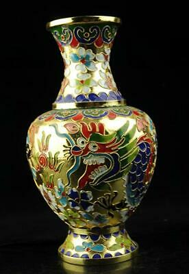china old hand-made cloisonne copper dragon and phoenix Vase d01