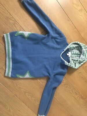 The Little White Company Boys Knitted Hoody 8-9yrs