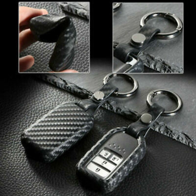 Honda Accord CR-V Fit HR-V Jazz Civic Carbon Fiber Car Key Case Accessori GWR