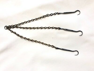 Antique Surgeons 3 Hooks and Chains : Surgical Kit