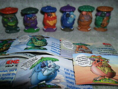 Yowies Kfc Series 1 Full Set Of 6 Limited Editions With Papers