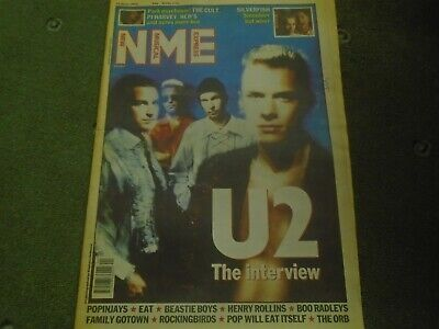 NME june 1992 U2 bono beastie boys rollins silverfish pj harvey vintage music