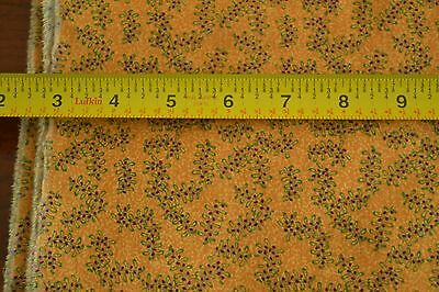 "By-the-Half-Yard Calico on Brown Stiffer Cotton 44/"" Wide M5817"