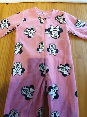 Disney Baby Girls Minnie Mouse sleepsuit age 2-3