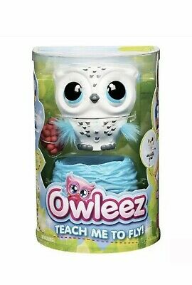 Owleez, Flying Baby Owl Interactive Toy with Lights & Sounds White! Teach Ro Fly