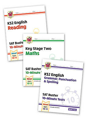CGP Complete KS2 Maths and English 10-Minute Test SAT Buster Book 2 Bundle (for
