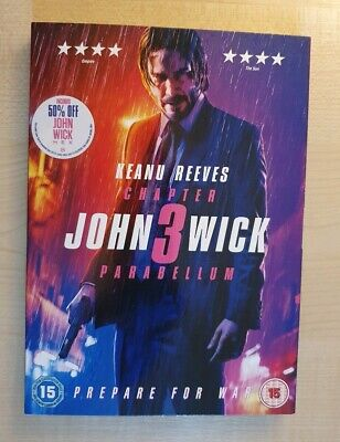 John Wick Chapter 3: Parabellum - Genuine R2 DVD - New & Sealed - Free Post!