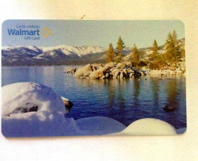 Walmart Limited Ed LAKE COLLECTIBLE Gift Card New No Value bilingual