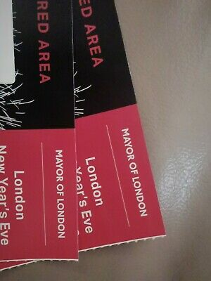 2 x London New Year's Eve NYE Fireworks Tickets - Red Zone/Area