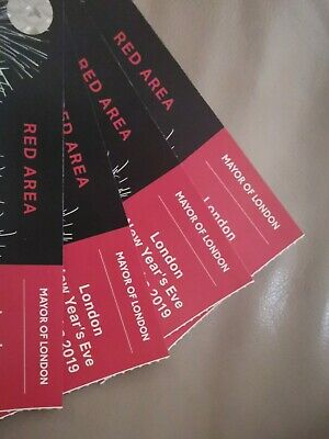 4 x London New Year's Eve NYE Fireworks Tickets - Red Zone/Area