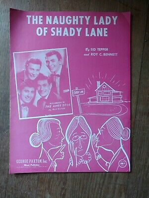 Ames Brothers the naughty Lady of shady Lane song sheet music
