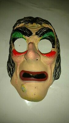VINTAGE 1960s-1970s HALLOWEEN MASK, BEN COOPER STYLE WITCH