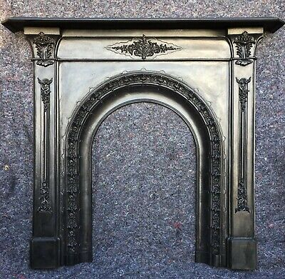 Genuine Antique Cast Iron Victorian Fire Surround Arched, Uk Delivery