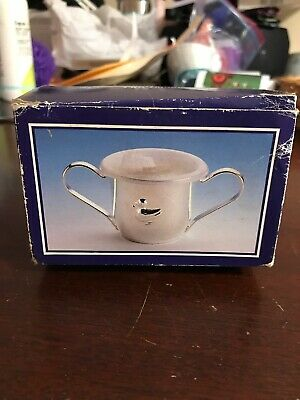 Silver Plated Two Handle Baby Cup
