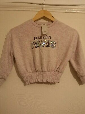 Bnwt Girls Pale Pink River Island Top Aged 5/6