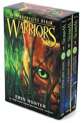 Warriors Box Set Volumes 1 to 3 by Erin Hunter 9780062373298 | Brand New