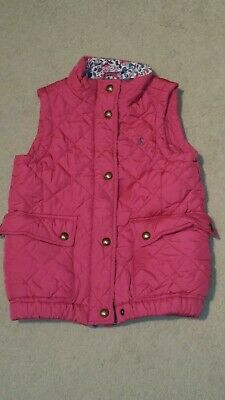Girls Joules Pink Gilet age 7 Fantastic condition