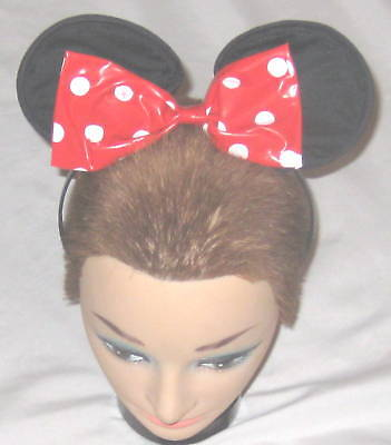 "Hat - RED Disney ""Minnie Mouse"" Ears & Bow Headband"