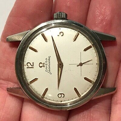 Stunning Omega Seamaster Watch Case Ref 14389-12 Caliber 283 Manual Movement