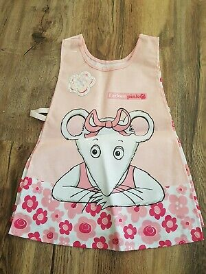 Girls Plastic Pink Mouse Apron.