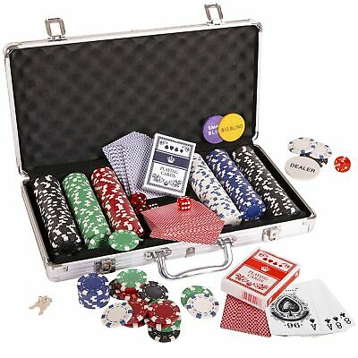 Silly Goose Poker Chip Set, Poker Chips (300/11.5 gr), Color Dice (5), Playin...