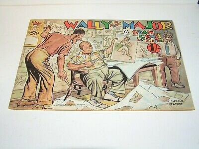 Vintage  Australian  Print Comic , Wally  And  The  Major  . Number  15 .