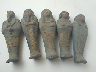 5 Rare Ancient Egyptian Antique Ushabti 1454-1162 Bc (4)