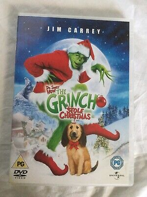 THE GRINCH  - Dr Seuss  - HOW THE GRINCH STOLE CHRISTMAS  DVD  JIM CARREY