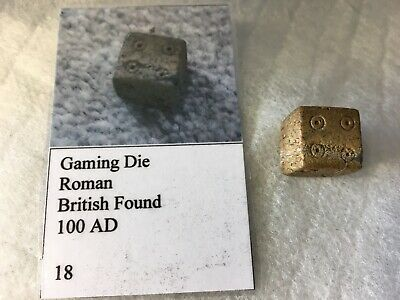 Ancient Roman Bone Gaming Dice Die, 100 AD, no 18