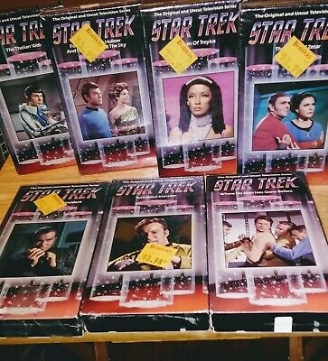 LOT OF 7 STAR TREK VHS (6NEW) 1Per View New Old Stock