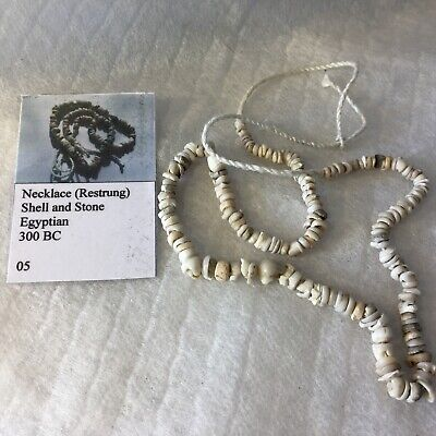 Ancient Egyptian shell and stone bead necklace circa 300BC, No. 5