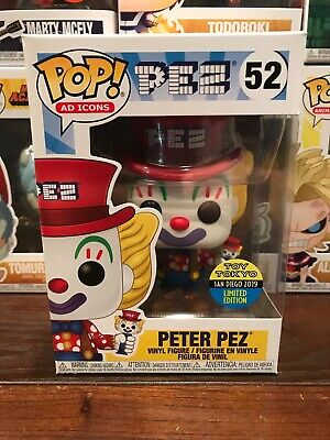 Funko Pop Ad Icons Peter Pez 2019 Sdcc Toy Tokyo Exclusive San Diego Comic Con