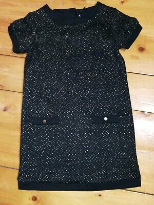 Next Girls Black And Gold Dress Age 11 Christmas Party