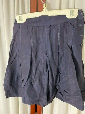 Late 1930's Girl's Skirt - Small - Pleated Navy Rayon - BARGAIN PRICE