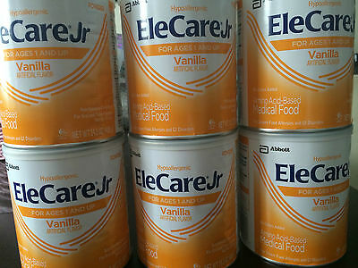 6 Cans of Elecare Jr vanilla