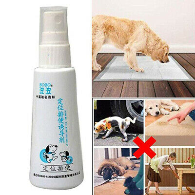 60ML Pet Potty Here Dog Cat Puppy Urinal Training Aid Spray For Puppy Pee Pads