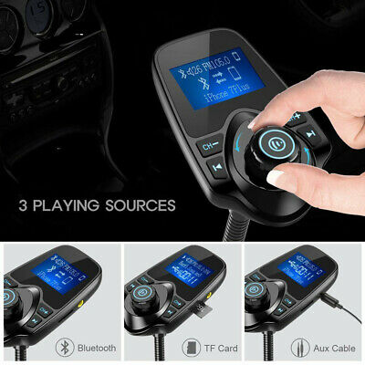 Fashion Wireless In-Car Bluetooth FM Transmitter Radio Adapter Car Kit AU