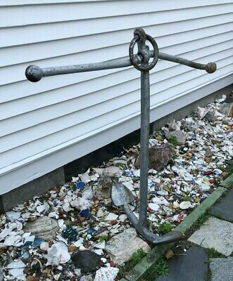 LARGE SHIP ANCHOR,CAST STEEL NAUTICAL - Landscaping  - Pick Up BOSTON