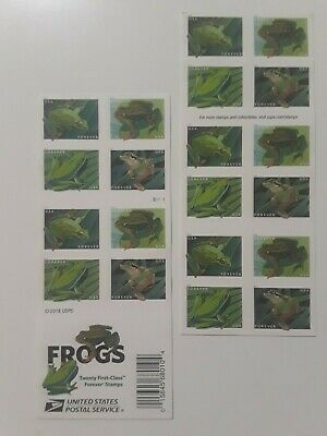 200 USPS Forever Postage Stamps - - Frogs (10 books of 20)