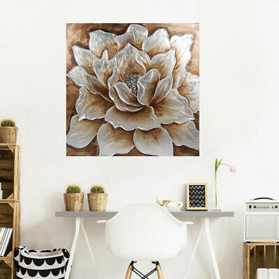 Modern Abstract Hand Painted Canvas Oil Painting Home Decor Framed Peony Flower